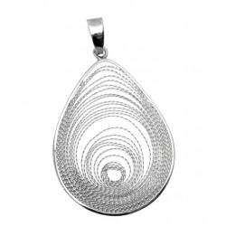 Duży ażurowy srebrny wisior OP63a
