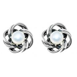 Srebrne kolczyki z perłą BN05