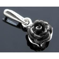 Wisiorek czarna róża BN54