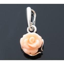 Róża srebrny wisiorek BN54