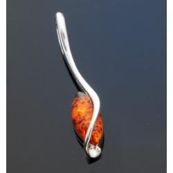 Wisiorek bursztyn w srebrnym oplocie AC165