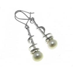 Srebrne kolczyki z perłą AC159