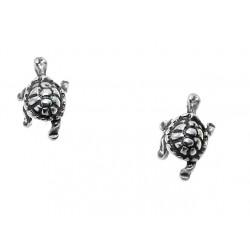 żółwie srebrne kolczyzki na sztyfty BN97