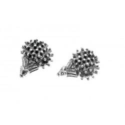 Kolczyki srebrne jeże na sztyfty BN89