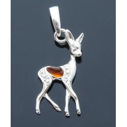 Sarenka jelonek srebrny wisiorek AP02