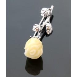 Broszka żółta róża BN08A
